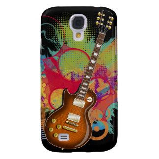 Grunge de la guitarra de la roca funda para galaxy s4