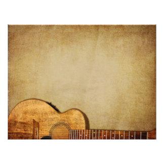 Grunge de la guitarra horizontal