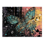 Grunge de la mariposa postal