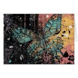 Grunge de la mariposa tarjeta de felicitación