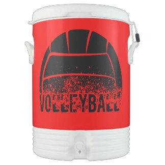 Grunge de la oscuridad del voleibol enfriador de bebida igloo