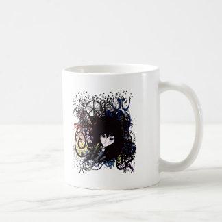 Grunge de la paz del animado tazas de café