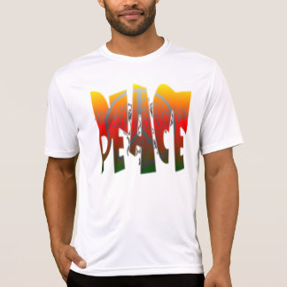 Grunge de la paz camisetas