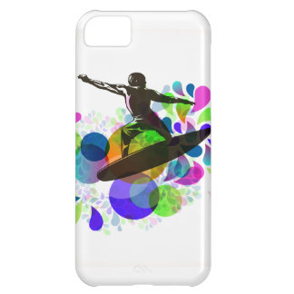 Grunge de la persona que practica surf de PixDezin Funda Para iPhone 5C