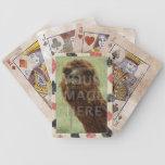 Grunge de la plantilla de la foto baraja de cartas