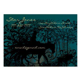 Grunge de la vaquera tarjetas personales