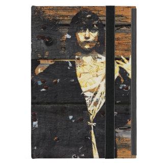 Grunge de la vintage mujer/madera/caso del ipad de iPad mini coberturas