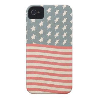 Grunge de las barras y estrellas del vintage Case-Mate iPhone 4 protectores