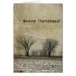 Grunge de los árboles del invierno, Felices Navida Felicitación