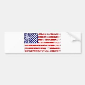 Grunge de los E.E.U.U. de la bandera americana Etiqueta De Parachoque