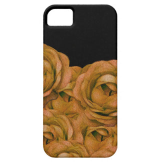 Grunge de los rosas del tono de la tierra del funda para iPhone SE/5/5s