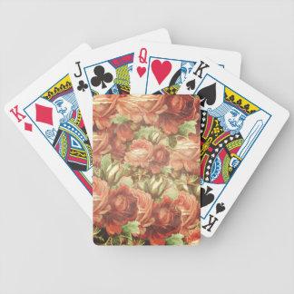 Grunge de los rosas del vintage barajas de cartas