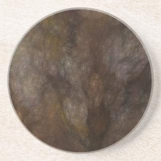 Grunge de mármol Series-10 del fractal---Brn coast Posavasos Manualidades