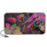 Grunge de PixDezines floral iPod Altavoces