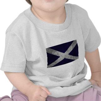 Grunge de Saltire Camiseta