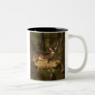 Grunge Deer And Camoflage Mug