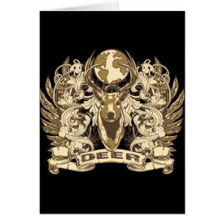 Grunge Deer Card