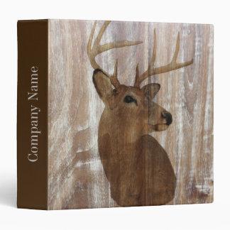 grunge deer woodgrain carpenter construction 3 ring binder