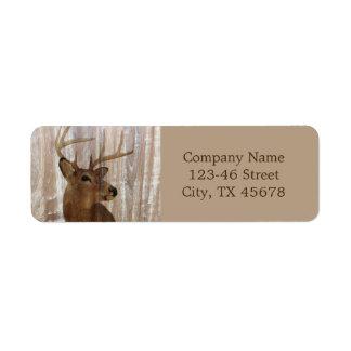 grunge deer woodgrain carpenter construction label