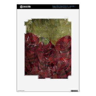 Grunge del aceite de rosas del vintage iPad 3 pegatina skin