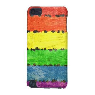 Grunge del arco iris del creyón funda para iPod touch 5G