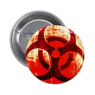 Grunge del Biohazard Pin Redondo 5 Cm