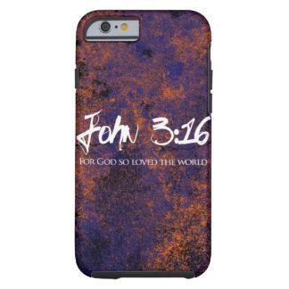 Grunge del caso del iPhone 6 del 3:16 de Juan Funda De iPhone 6 Tough