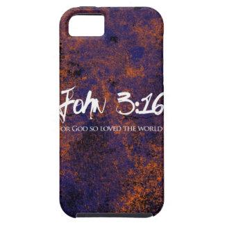 Grunge del caso del iphone del 3:16 de Juan iPhone 5 Case-Mate Coberturas