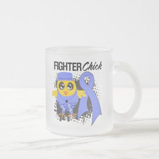 Grunge del esófago del polluelo del combatiente de tazas de café