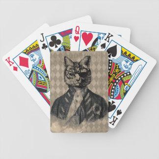 Grunge del gato del Harlequin Barajas De Cartas