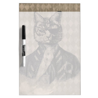 Grunge del gato del Harlequin Tableros Blancos