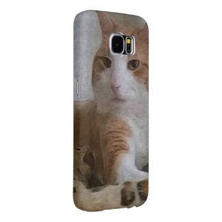 Grunge del guepardo de la actitud del gato funda samsung galaxy s6