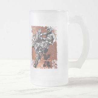 Grunge del motocrós taza de cristal