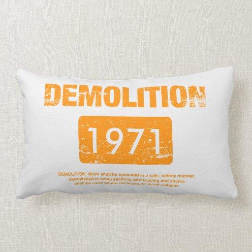 Grunge del naranja de la demolición cojin