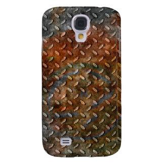 Grunge del naranja del moho de la cubierta del iPh Funda Para Galaxy S4