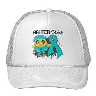 Grunge del polluelo del combatiente del cáncer ová gorra