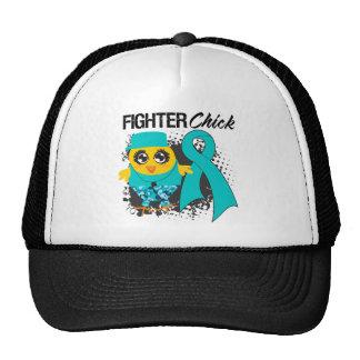 Grunge del polluelo del combatiente del cáncer ová gorras de camionero
