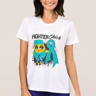 Grunge del polluelo del combatiente del cáncer camiseta