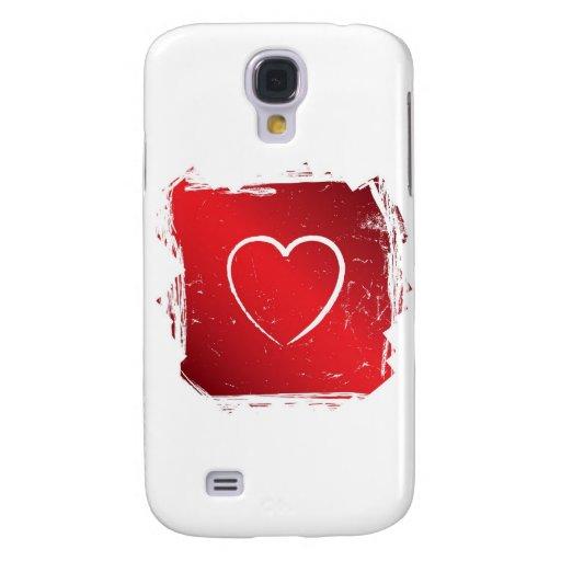 Grunge del rojo del corazón