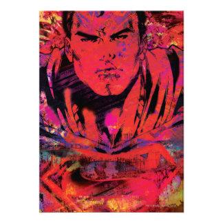 Grunge del rojo del superhombre comunicado