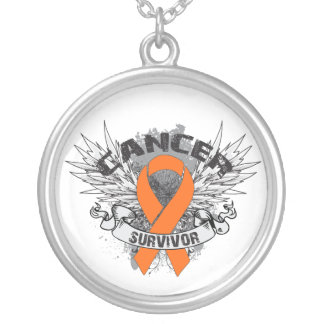 Grunge del superviviente del cáncer de la leucemia collares personalizados
