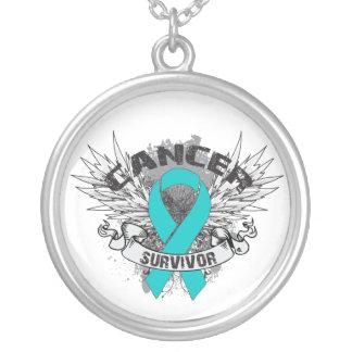Grunge del superviviente del cáncer ovárico con al grimpolas personalizadas