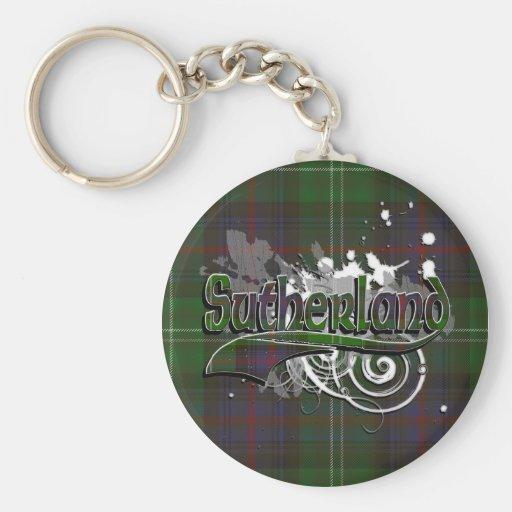 Grunge del tartán de Sutherland Llaveros Personalizados