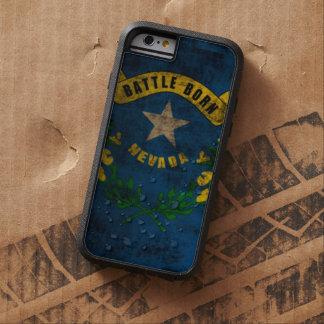 Grunge del vintage de la bandera de Nevada Funda Tough Xtreme iPhone 6