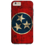 Grunge del vintage de la bandera de Tennessee Funda De iPhone 6 Plus Tough