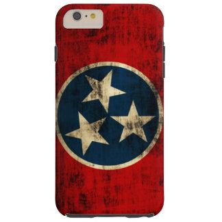 Grunge del vintage de la bandera de Tennessee Funda De iPhone 6 Plus Tough