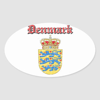 Grunge Denmark coat of arms designs Oval Sticker