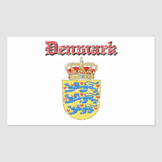 Grunge Denmark coat of arms designs Rectangular Sticker