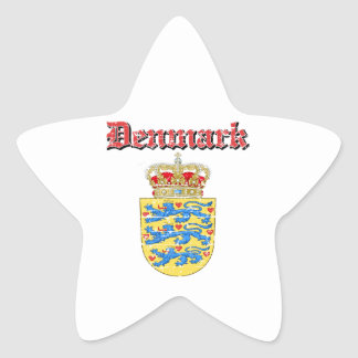 Grunge Denmark coat of arms designs Star Sticker