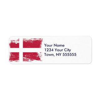 Grunge Denmark Flag Label